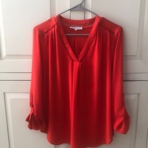 Breezy red blouse
